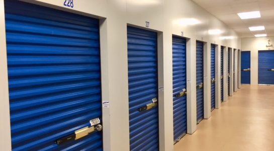 Locked and secured indoor storage units