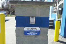 Keypad to enter facility