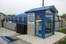 24/7 rental center booth at main entrance