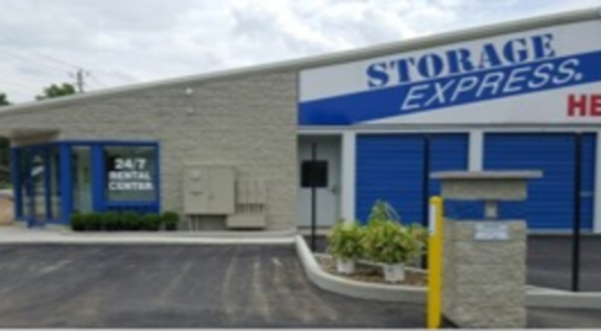 Storage facility entrance and rental center
