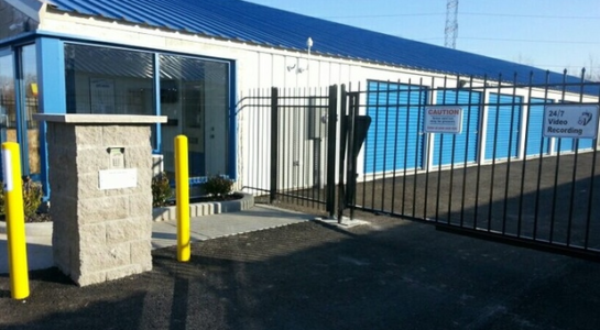 Secure entrance to storage facility