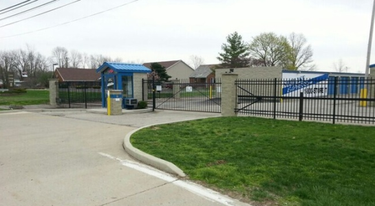 Gated entrance to storage facility in Richmond