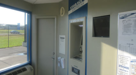Machine for renting self storage units