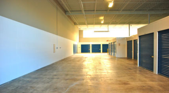 Indoor, climate controlled storage units with drive up access