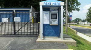 Booth to rent self storage units