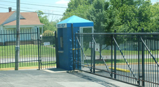 Gated entrance to Storage Express