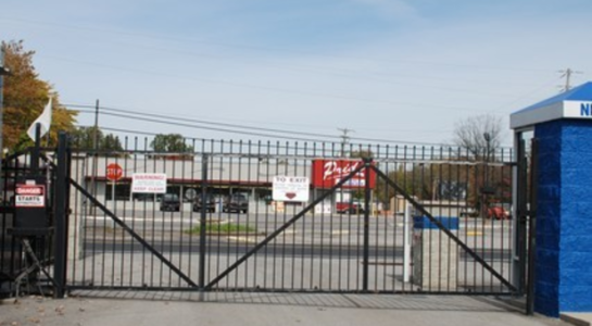 Gate for storage facility entrance