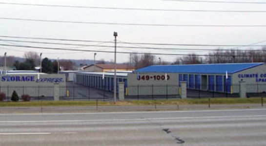 Street view of storage facility
