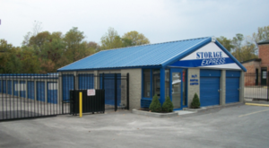 Main entrance to storage facility