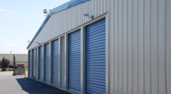 Small storage units with drive-up access
