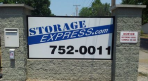 Storage Express sign and call box