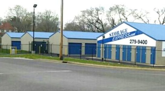 Street view of storage unit facility