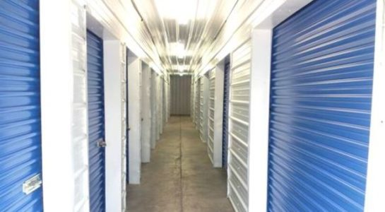 Hallways of indoor storage units