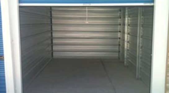 Inside of self storage unit