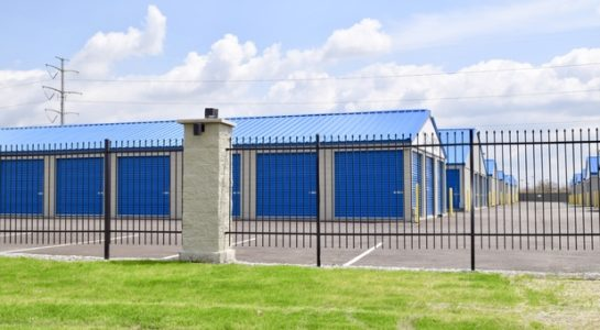 Gate for storage facility
