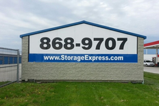 Storage Express sign and phone number - 868-9707